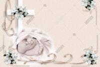 Baby Baptism Image & Photo (Free Trial) | Bigstock for Blank Christening Invitation Templates