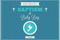 Baby Boy Baptism Vector Invitation – Download Free Vectors regarding Christening Banner Template Free