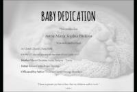 Baby Dedication Certificate Template For Word [Free Printable] inside Baby Christening Certificate Template