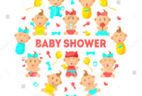 Baby Shower Banner Template Cute Arrival Stock Vector in Baby Shower Banner Template