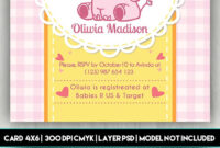 Baby Shower Card – Free Psd Card Template | Free-Psd-Templates with Baby Shower Flyer Template