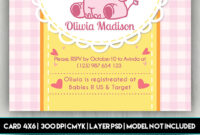 Baby Shower Card – Free Psd Card Template On Behance within Baby Shower Flyer Templates Free