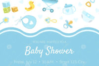 Baby Shower Invitation Banner Template, Light Blue Card With with regard to Baby Shower Banner Template