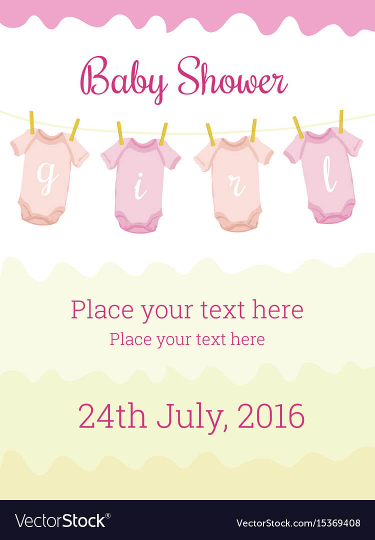 Baby Shower Invitation Card Template For Baby Girl With Regard To Baby Shower Flyer Templates Free