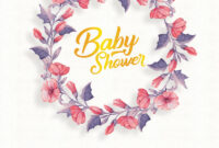 Baby Shower Invitation Flyer Templates – Psdflyer.co in Baby Shower Flyer Templates Free