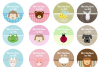 Baby Shower Labels For Favors Templates • Baby Showers Design inside Baby Shower Label Template For Favors