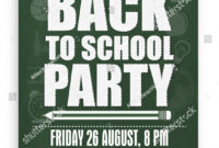 Back School Party Template Banner Flyer Stock Vector regarding Back To School Party Flyer Template