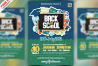 Back To School Party Flyer Design Psd | Psdfreebies for Back To School Party Flyer Template