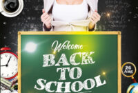 Back To School Party Free Psd Flyer Template – Free Psd within Back To School Party Flyer Template