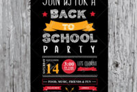 Back To School Party Invitation Design Template intended for Back To School Party Flyer Template