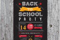 Back To School Party Invitation Design Template regarding Back To School Party Flyer Template
