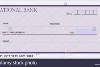 Bank Cheque Stock Photos & Bank Cheque Stock Images – Alamy with Blank Cheque Template Uk