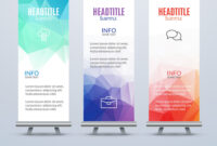Banner Stand Design Template With Abstract in Banner Stand Design Templates