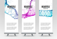 Banner Stand Design Template With Abstract throughout Banner Stand Design Templates