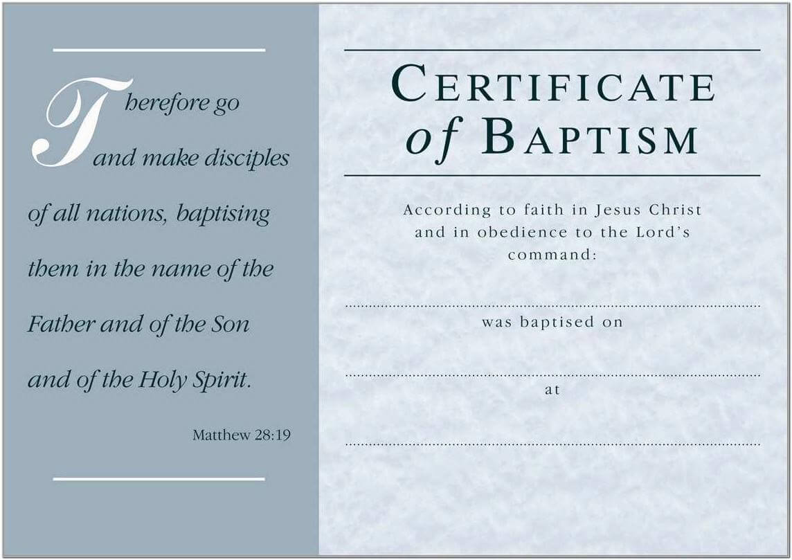 Baptism Certificate Template Church Of England - Templates With Baptism Certificate Template Word