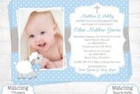 Baptism Invitation Template : Baptismal Invitation with regard to Baptism Invitation Card Template