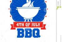 Barbecue Poster, Flyer, Template Or Invitation Design. Stock throughout 4Th Of July Menu Template