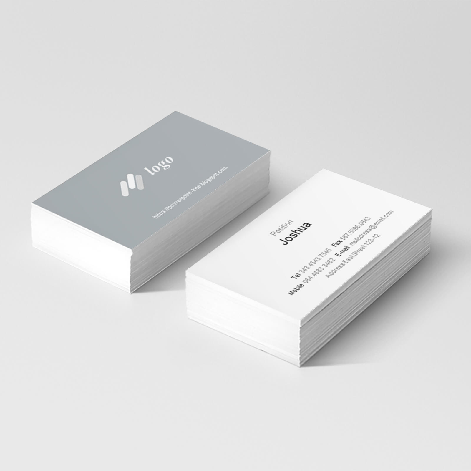 Basic Business Card Powerpoint Templates - Powerpoint Free Pertaining To Business Card Template Powerpoint Free