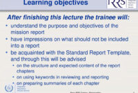 Basic Irrs Training Lecture 7 – Ppt Download for After Training Report Template