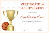 Basketball Achievement Certificate Template within Basketball Certificate Template