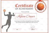 Basketball Award Achievement Certificate Template throughout Basketball Certificate Template