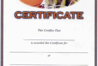 Basketball Award Certificate To Print | Activity Shelter pertaining to Basketball Camp Certificate Template