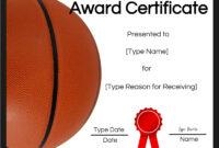 Basketball Certificates throughout Basketball Certificate Template
