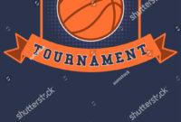 Basketball Tournament Flyer Poster Template Stock Vector within Basketball Tournament Flyer Template