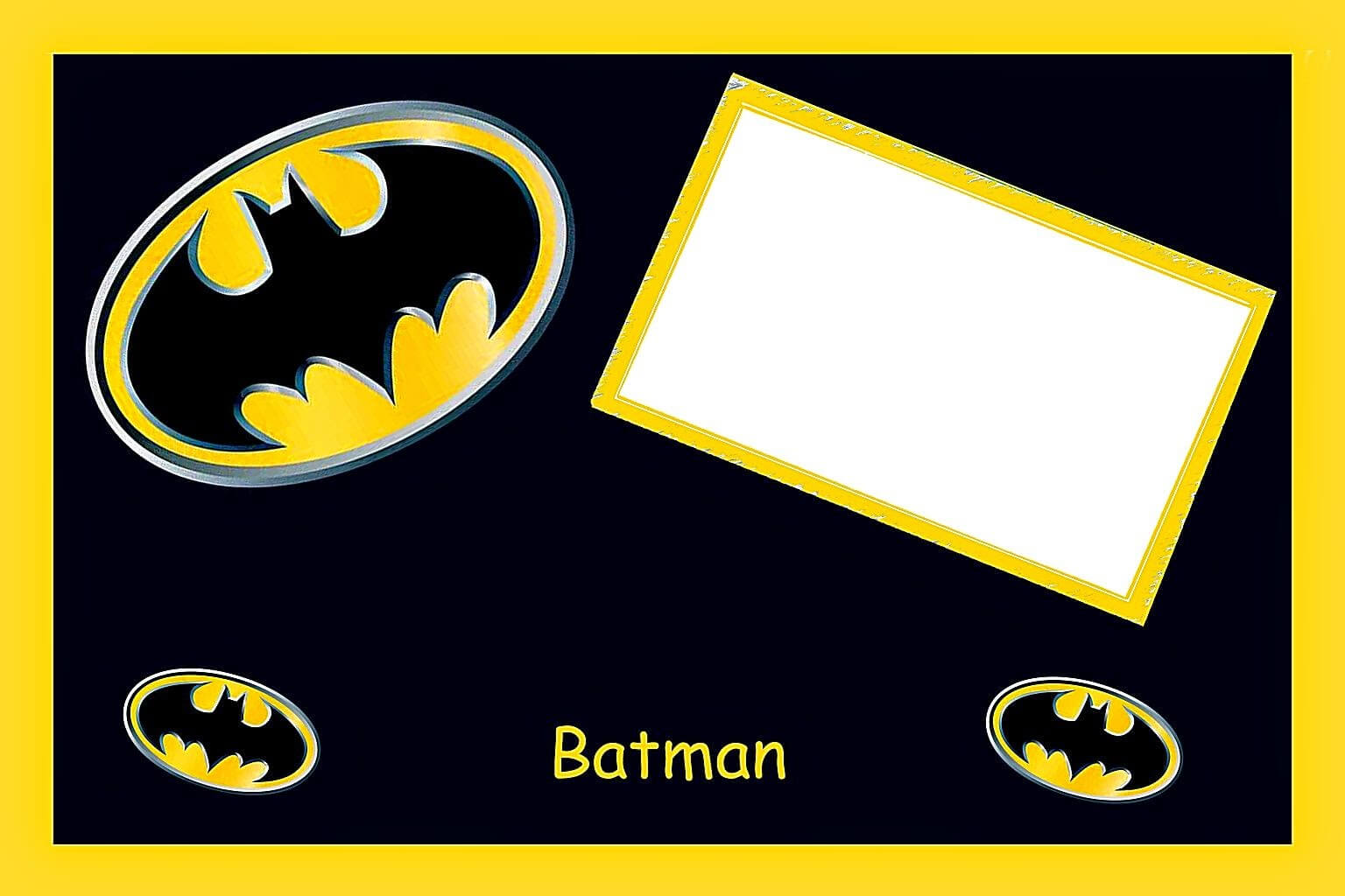 Batman Birthday: Free Printable Cards Or Invitations. - Oh With Regard To Batman Birthday Card Template