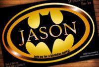 Batman Birthday Invitations Templates Ideas : Batman intended for Batman Birthday Card Template