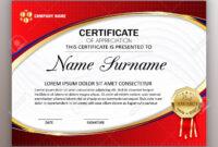 Beautiful Certificate Template Design With Best Award Symbol inside Beautiful Certificate Templates