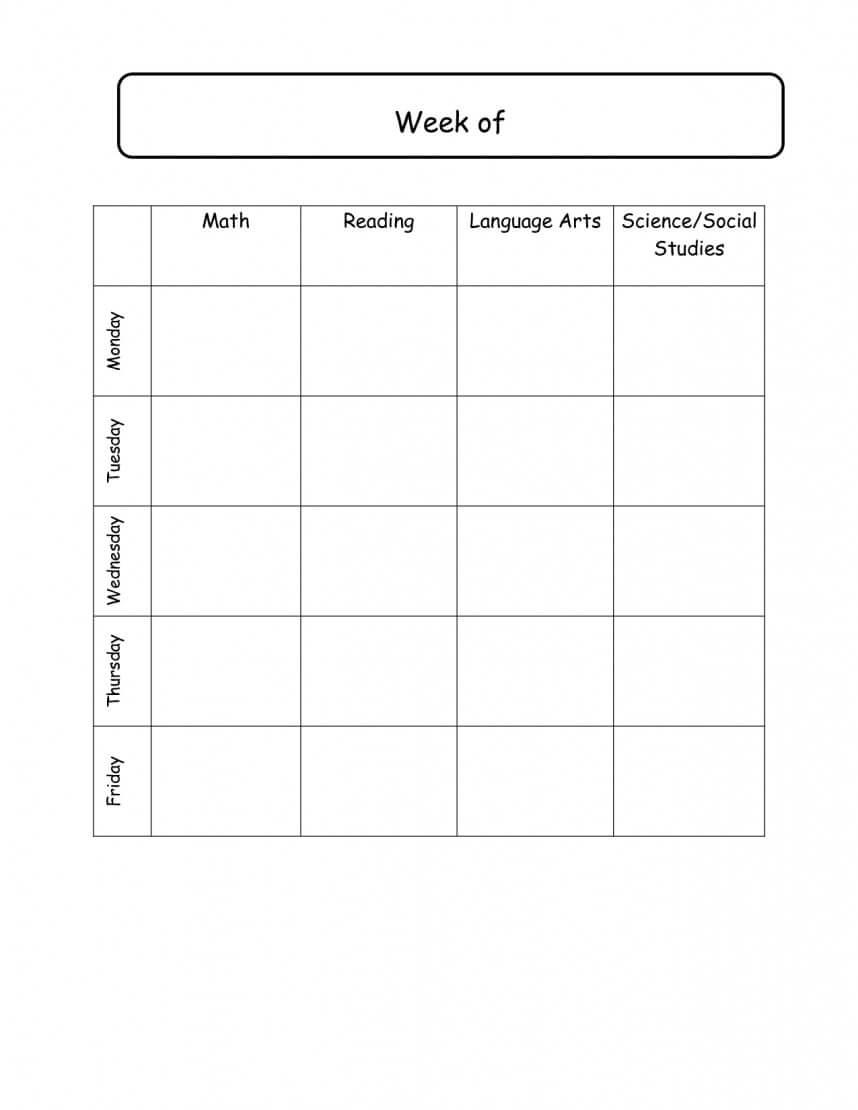 Beautiful Preschool Daily Schedule Template Ideas Classroom With Regard To Bulletin Board Template Word