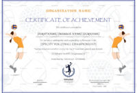 Beautiful Volleyball Certificate Templates – Superkepo within Beautiful Certificate Templates