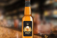 Beer Bottle Label Design Mockup In Psd Download Free throughout Beer Label Template Psd