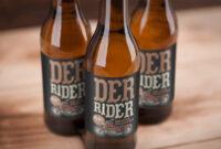 Beer Bottle Label Mockup Psd   Download Mockup pertaining to Beer Label Template Psd