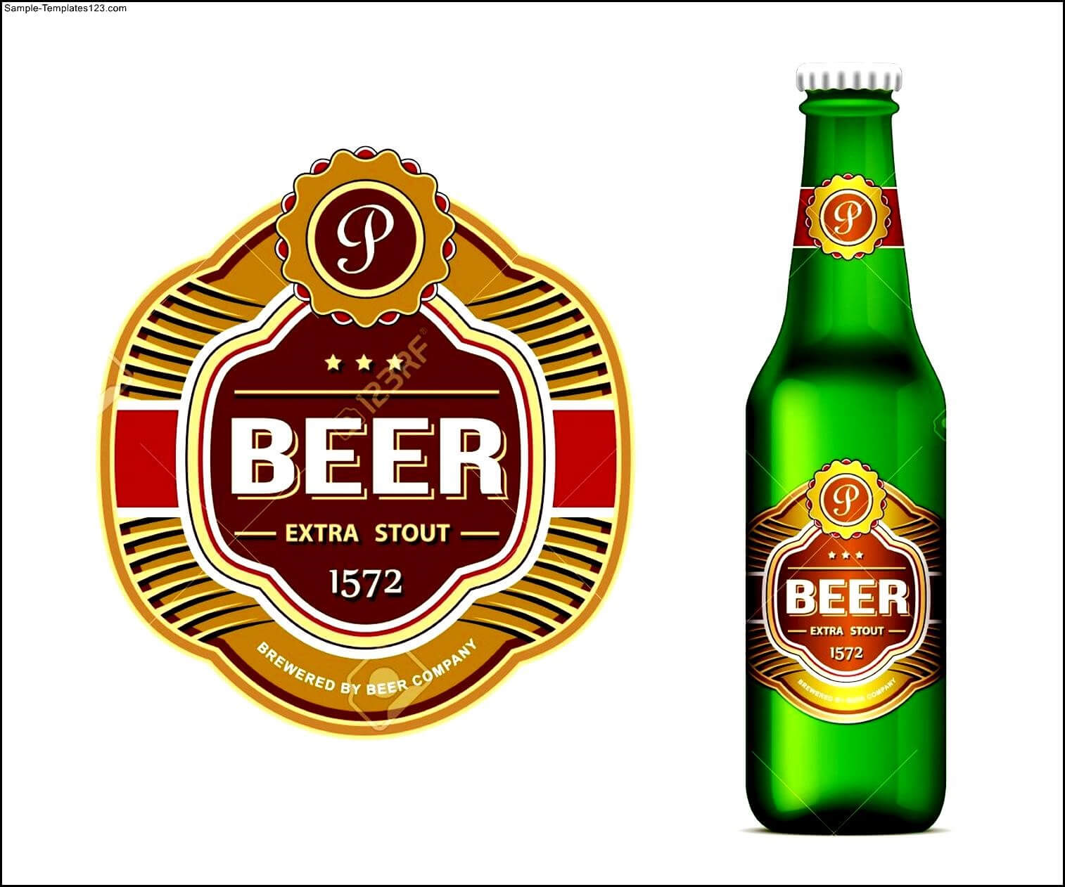 Beer Bottle Label Template Word - Sample Templates - Sample In Beer Label Template Psd
