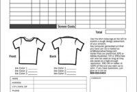 Best Apparel Order Form Template Ideas School Spirit Wear with regard to Apparel Order Form Template