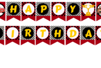 Best Happy Birthday Printable Banner   Coleman Blog throughout Cars Birthday Banner Template