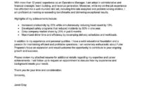 Best Operations Manager Cover Letter Examples | Livecareer throughout Brief Op Note Template