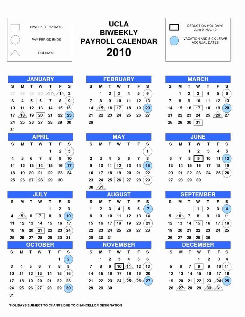 Bi Weekly Calendar 2017 With 2017 Biweekly Payroll Calendar Template