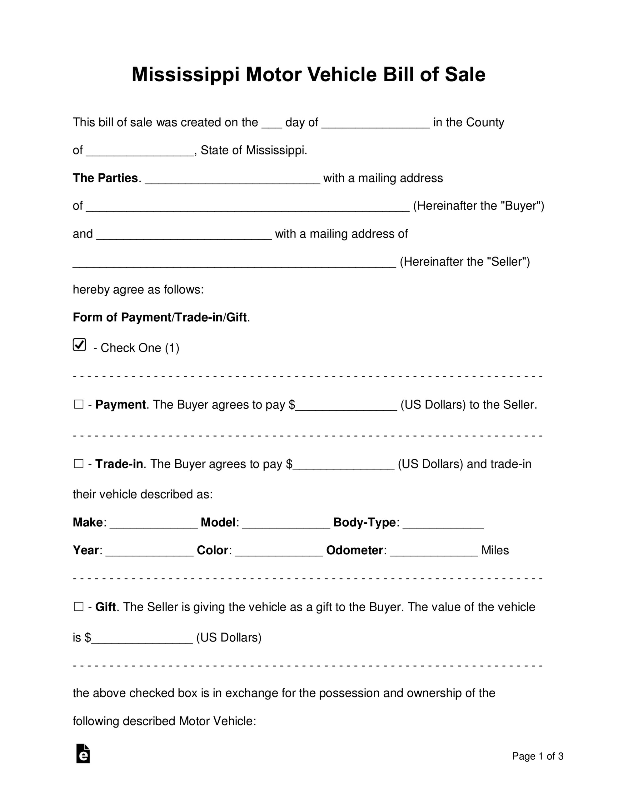 Bill Of Sale Form Car - Tunu.redmini.co Within Automotive Bill Of Sale Template