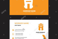 Bin Business Card Design Template, Visiting For Your Company intended for Bin Card Template