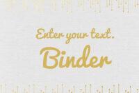 Binder Covers regarding Business Binder Cover Templates