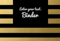 Binder Covers throughout Business Binder Cover Templates