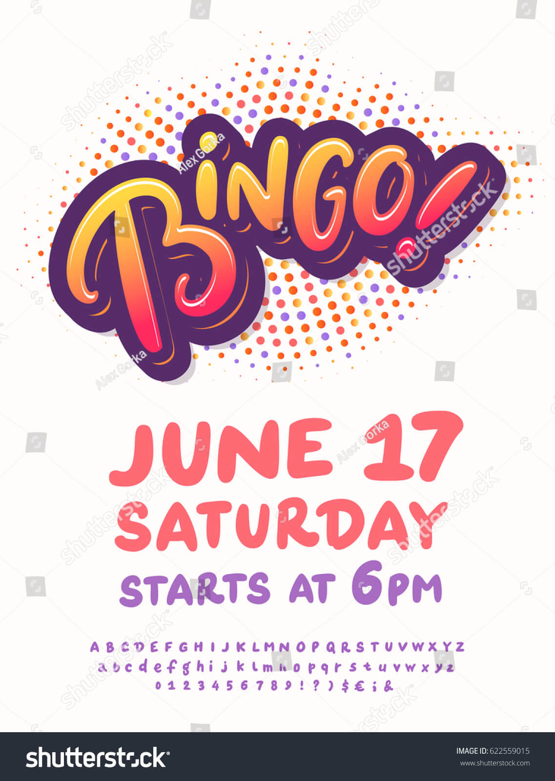 Bingo Night Poster Template Stock Vector (Royalty Free Pertaining To Bingo Night Flyer Template