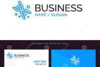 Bio, Dna, Genetics, Technology Blue Business Logo And inside Bio Card Template