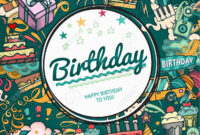 Birthday Background. Collage Photo Frame Card. Album Template.. for Birthday Card Collage Template