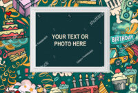 Birthday Background Collage Photo Frame Card Stock Vector with regard to Birthday Card Collage Template