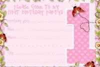 Birthday Invitation Card : Free Printable 1St Birthday with regard to 1St Birthday Invitation Templates Free Printable