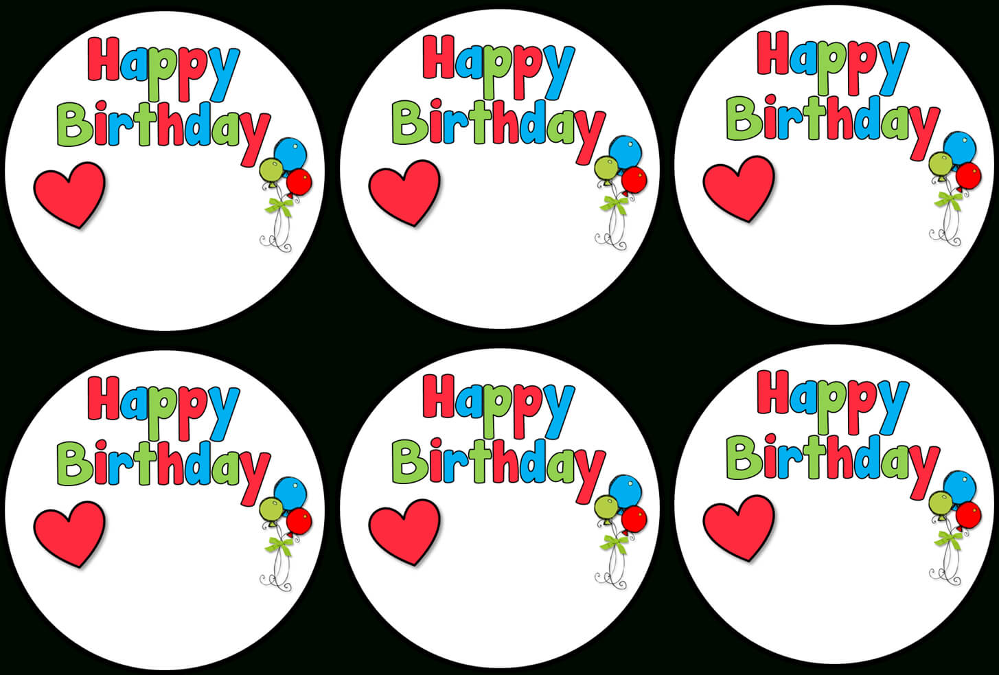 Birthday Labels Template Free ] - And Of Course Some Thank Throughout Birthday Labels Template Free